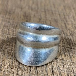 925 Sterling Silver Thick Banded Ring